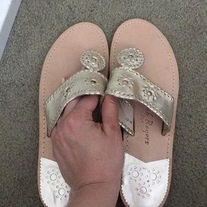 Jack Rogers platinum Hampton sandal